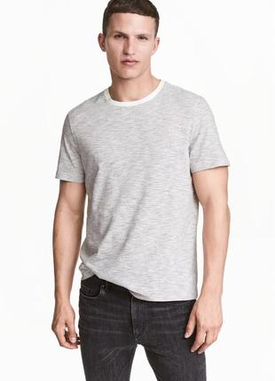 Полосатая футболка h&m, regular fit