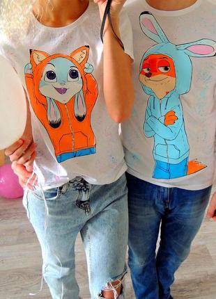 Handmade 🎨 комплект , парні футболочки ❣️ всі розміра  .