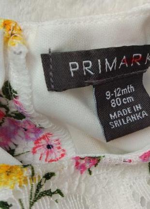 Big sale! новое роскошное платье primark на 9-12 мес4 фото