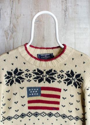 Polo sport ralph lauren очень приятный вязанный винтажный свитер