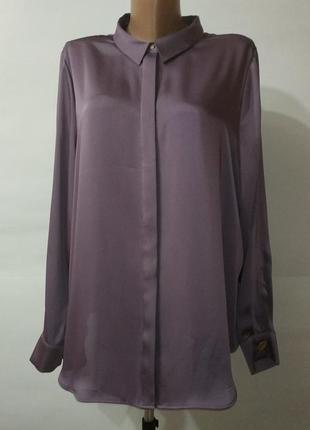 Сиреневая шикарная красивая блуза autograph. uk 18 / 46 / xxl marks&spencer