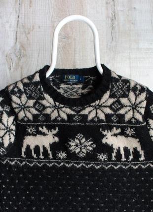 Polo ralph lauren sweater тёплый и украшенный узорами