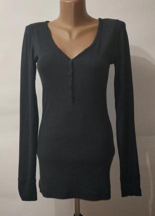 Синяя хлопковая кофта джемпер tom tailor uk 10-12 / 38-40 / m