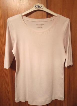 Нежная нюдовая базовая футболка,кофта marc cain,оригинал