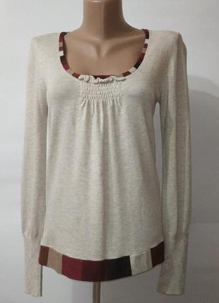 Бежевый вискозные джемпер пуловер betty jackson uk 12 / 40 / m