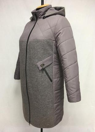 Шикарное пальто кашемир +плащёвка.,,50по 60,3 цвета