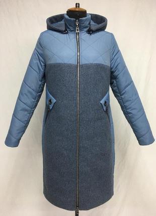Пальто дэми ,кашемир +плащёвка,,50 по 60 ...3 цвета .