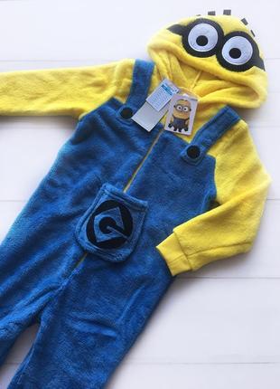 Кигуруми пижама миньон для мальчика 3-4, 5-6 лет primark.