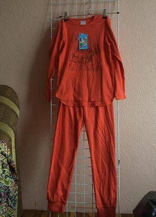 Трикотажная пижама для девочек на рост 122,128,140