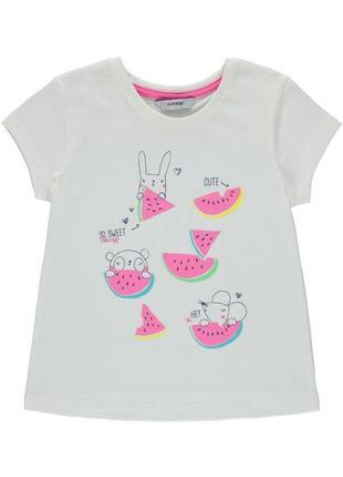 Новая футболка с арбузом и зверушками, george, 5748031