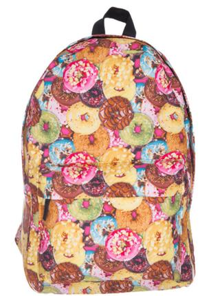 Очень милый яркий молодежный рюкзак в пончиках качественный