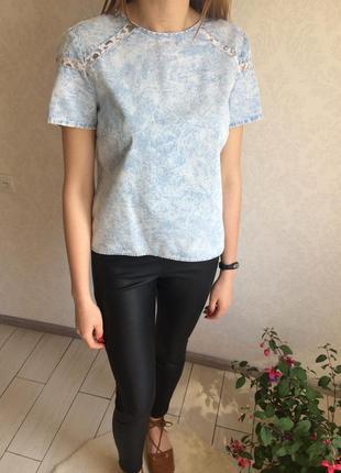 Оригинальная джинсовая блуза