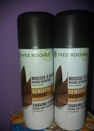 Пена для бритья ив роше yves rocher