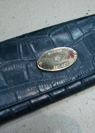 Шкіряний фірмовий гаманець mulberry. оригінал!!!