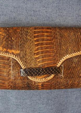 Клатч косметичка кошелек из кожи рептилии