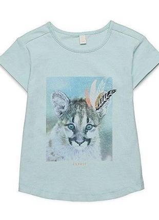 Новая голубая футболка с тигренком, esprit, 663760/5