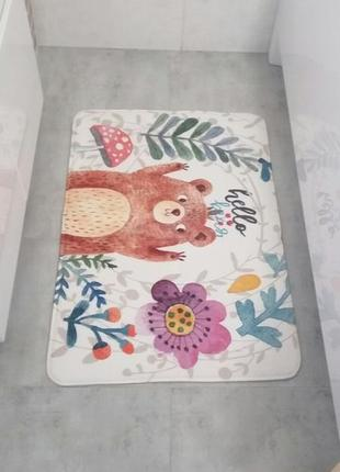 Коврик для ванны. коврик в прихожую. коврик hello bear.