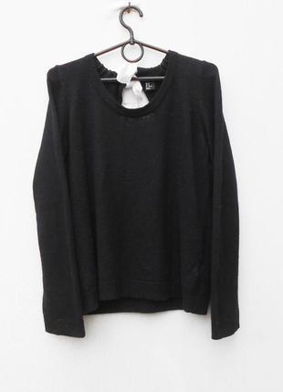 Осенний зимний 17% ангоровый свитер с длинным рукавом с вырезом на спинке