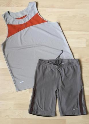 Шотры и майка nike оригинал вещи для спорта лосины подойдет на m и l dry-fit