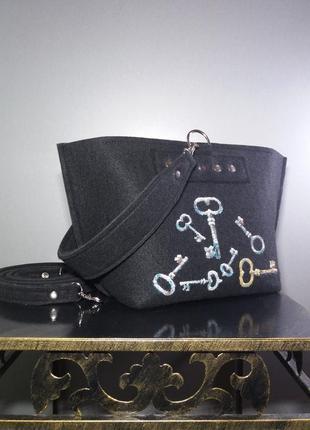 Ключики) сумочка из войлока