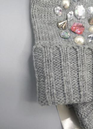 S-м р вязаные перчатки с камнями c&a