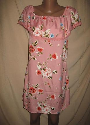 Платье с открытыми плечами primark р-р10