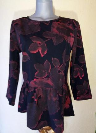 Актуальная блуза из плотной ткани,44-46 размер