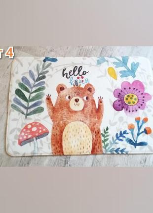 Коврик в ванную. коврик hello bear. коврик в прихожую.