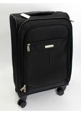 Средний тканевый чемодан samsonite, черный, оригинал