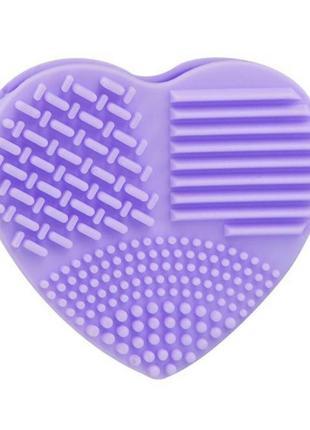 Щетка силиконовая для мытья и чистки косметических кистей