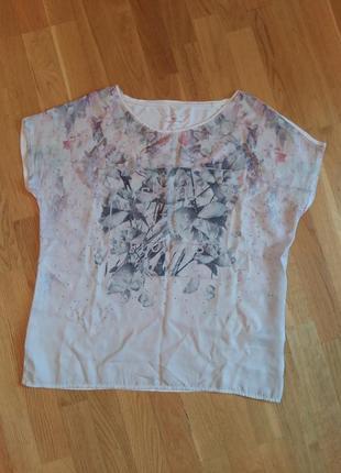 Красивая нежная блуза tom tailor l со спущенным рукавом