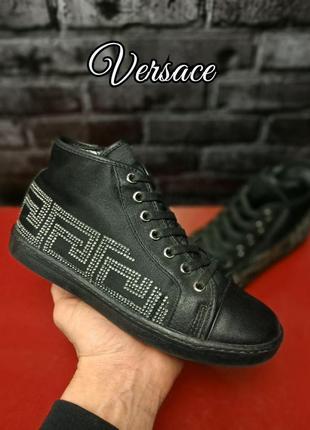 Кожаные ботиночки versace оригинал