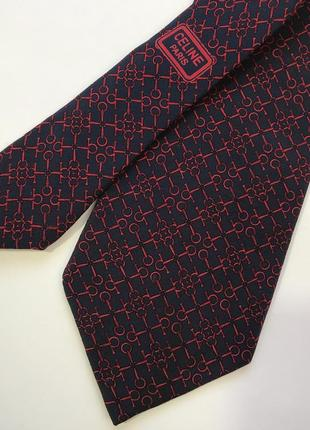 Оригинал!!!! шелковый дизайнерский галстук hand made класса люкс от celine.