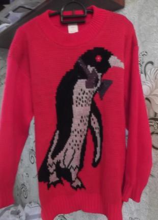 Свитер с пингвином