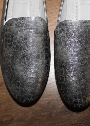 Комфортні шкіряні балетки туфлі ecco