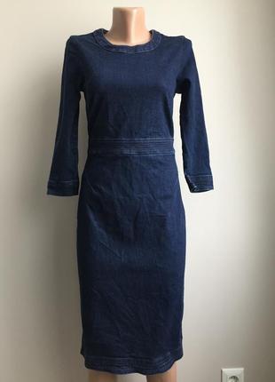 Джинсовое крутое платье
