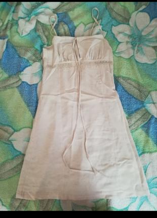 Потрясающее летнее льняное платье/сарафан!