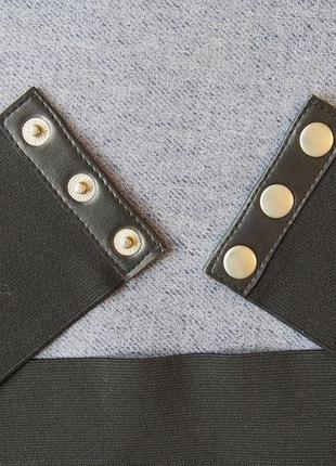 Широкий пояс резинка на трех кнопках