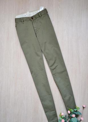 Стильные брюки чинос чиносы хаки h&m