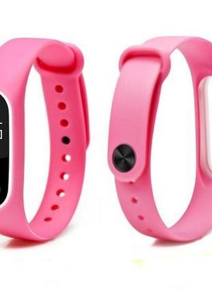 Ремешок фитнес-браслет xiaomi mi band 2 розовый с белым очень красивый