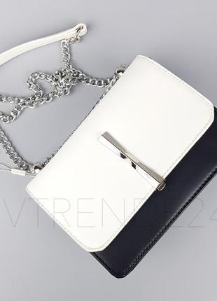 Бесплатная доставка #5015 black/white david jones шикарный клатч на цепочке