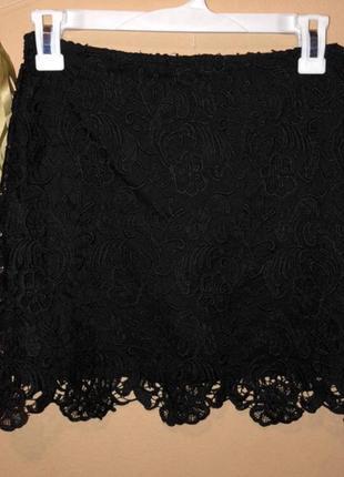 Кружевная юбка h&m с,м