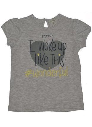 В наличии от 3мес до 3лет новая светло-серая футболка для девочки, ovs kids, 838554