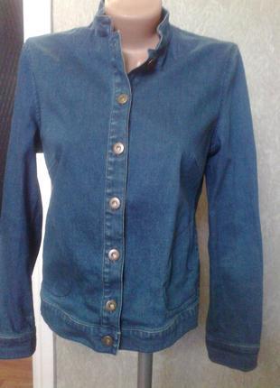 Джинсовый пиджак*бомбер*от autograph