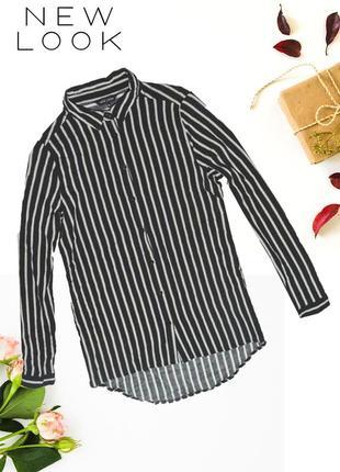 Рубашка асимметричная полосатая new look