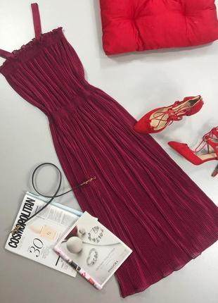 Стильное платье миди плиссе asos