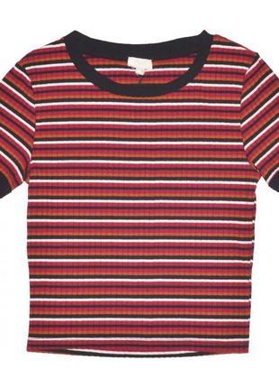 Новая футболка топ в полоску для девочки, ovs kids, 6131814