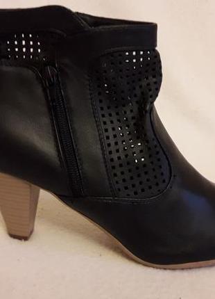 Стильные весенние ботинки с перфорацией фирмы lagear р. 39 стелька 25 см dca6207583d