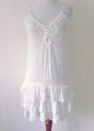 Супер сукня- майка бохо хіппі етно вишивка оборки на резинці