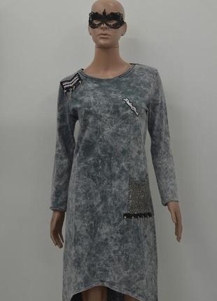 Платье в джинсовом стиле.